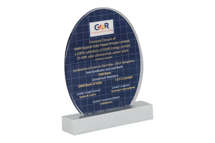 Acrylic Trophy with Printing - AC3016