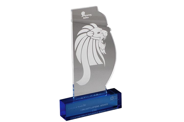 Corporate Acrylic Trophy with Engraving - AC3038