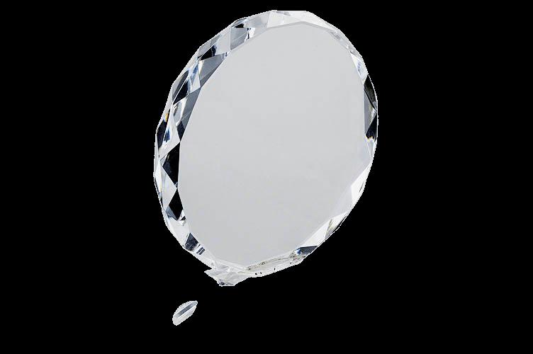 Round Crystal Plaque - CG1053