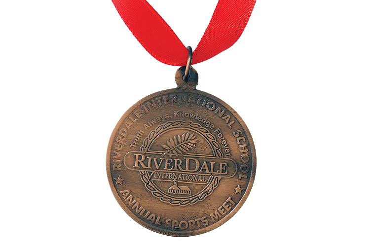 Sports Embossed Bronze Medal with Ribbon - MB4007