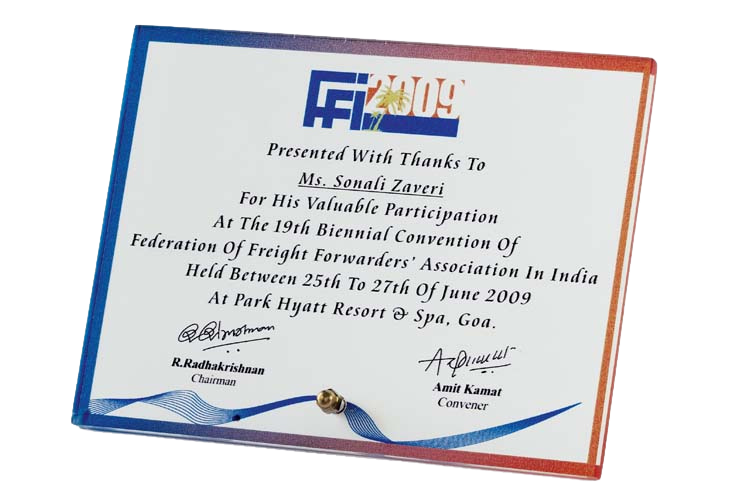Corporate Plaque with Colour Printing - PM5005